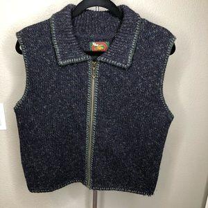 Vintage ALPS front zipper wool vest